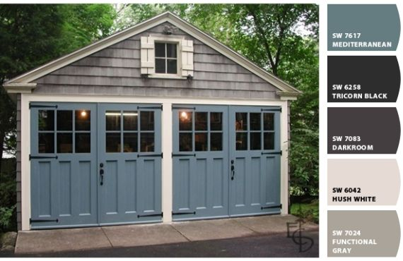 Love the blue color for the front door - SW7617 Mediterranean @ Sherwin Williams