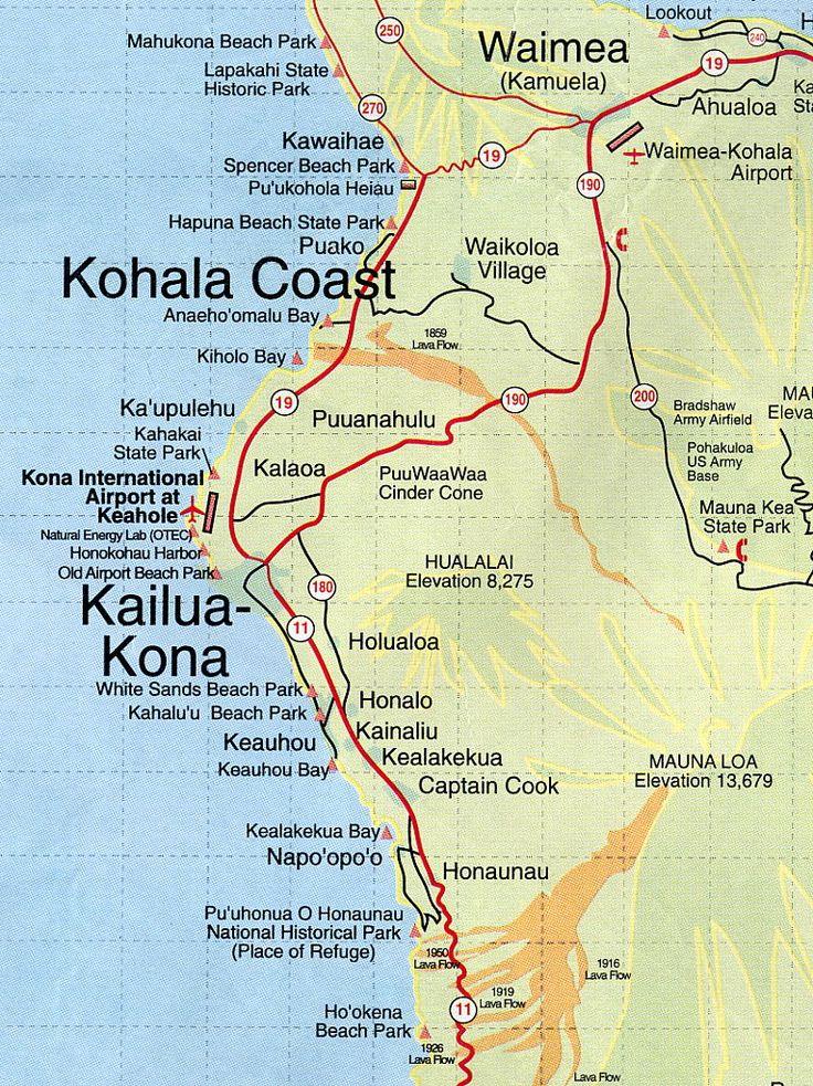 Kona Hawaii Map root maps map of kona coast hawaii my