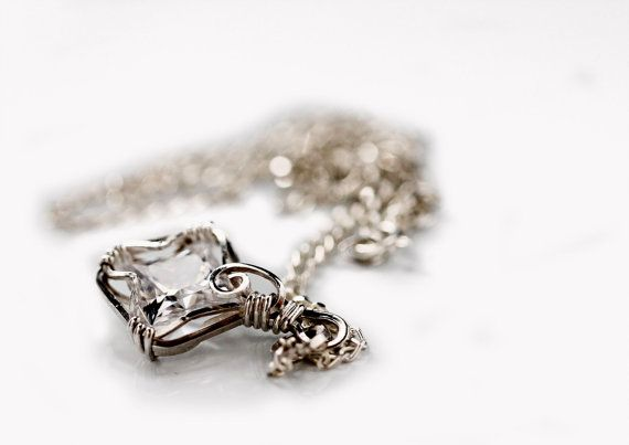 Sterling Silver AAA Cubic Zircon Pendant by KalitheoCreations