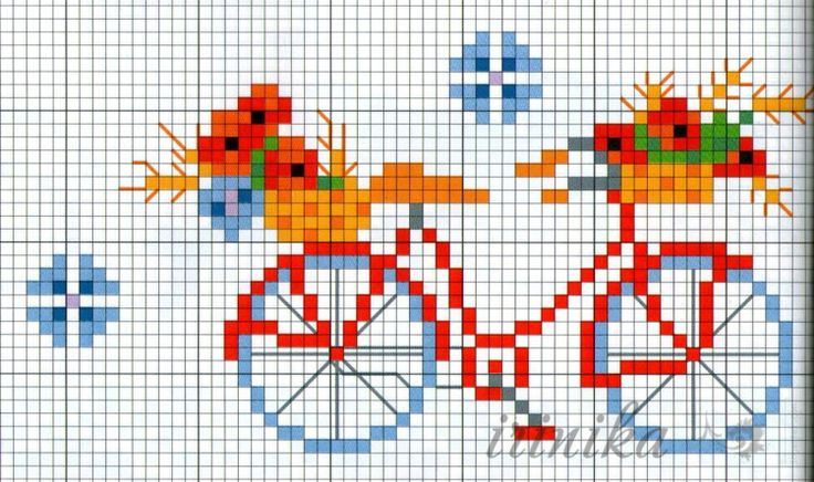 (1) Gallery.ru / Фото #1 - Велосипед. - irinika. Free pattern cross stitching