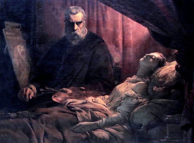 Léon Cogniet (1794-1880) Tintoretto Painting His Dead Daughter