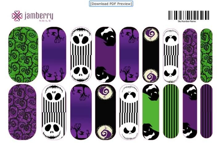 Nightmare Before Christmas Jamberry Nails Contact me for more info ...