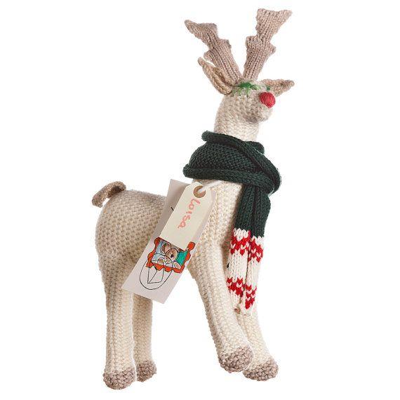 REINDEER LUISA  female wool puppet friend of di ZOODILANA su Etsy, €100,00
