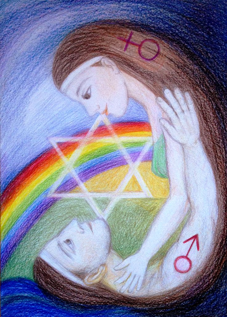 Priestess and her Sacred Marriage by Ivana Axman #goddess #priestess #symbols #pagan #witch #visionaly #wicca