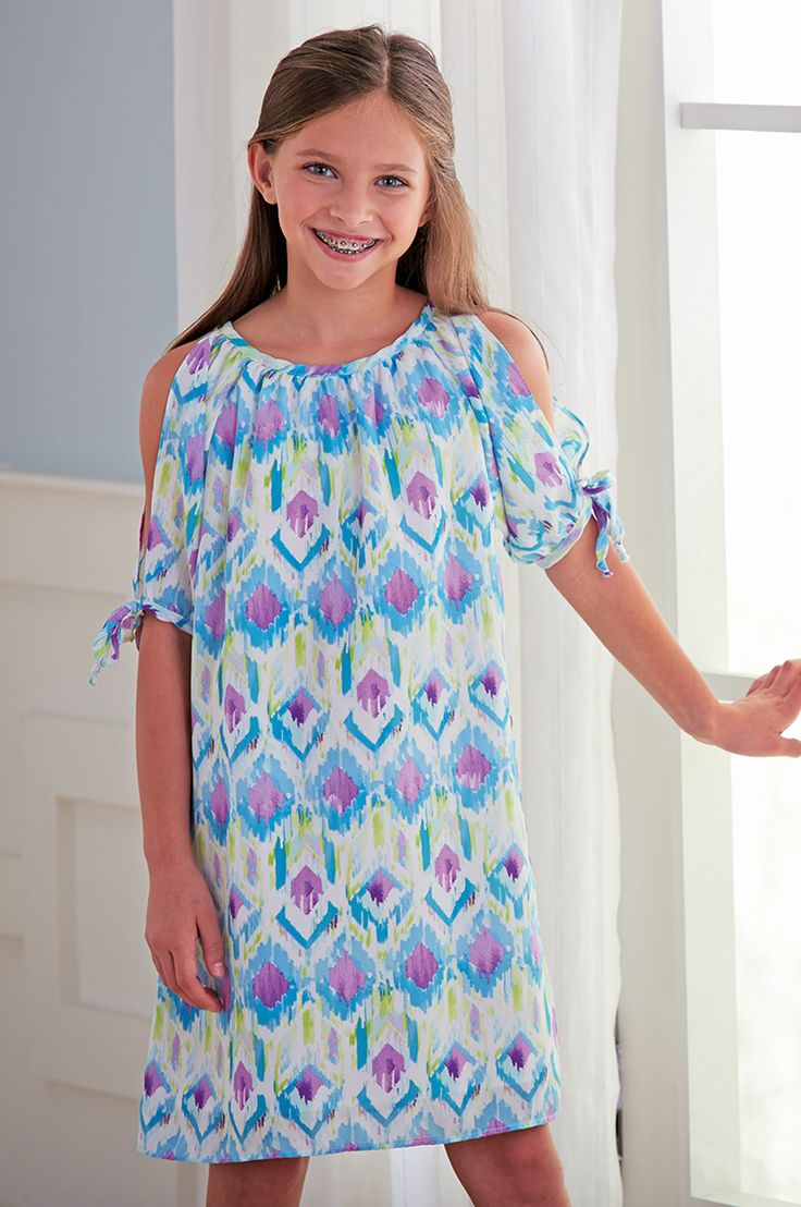 From CWDkids: Open Sleeve Ikat Print Dress