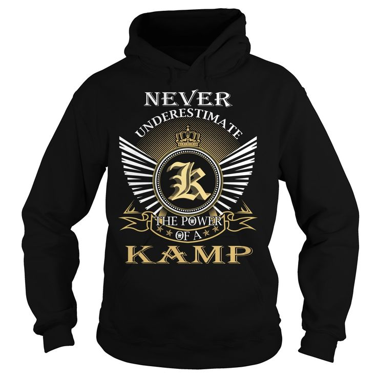 Never Underestimate The Power of a KAMP - Last Name, Surname T-Shirt