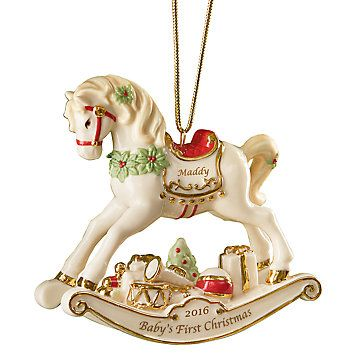 LENOX Ornaments: Baby's First Christmas - Rocking Horse Ornament