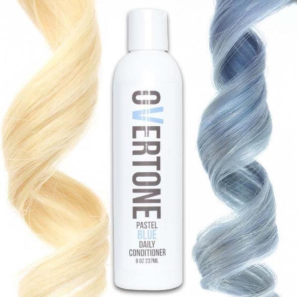 Sick of your pastel blue hair dye fading? Use oVertone Pastel Blue color conditioner to keep your light blue hair dye fresh OR to color your hair at home!