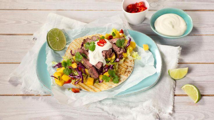 Oppskrift på asiatisk taco med entrecôte