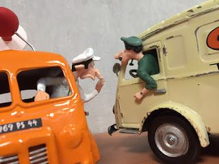 Figurine bande dessinée Spirou et Gaston lagaffe maquette camion