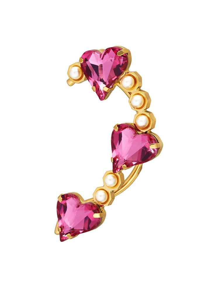 Maria Francesca Pepe Hearts and Pearls Earcuff.
