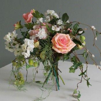Rond gedraaid zijden bloemen boeket :: Seta Fiori webshop