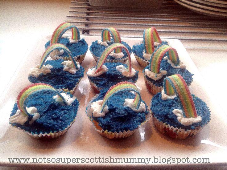 Not So Super Scottish Mummy: Care Bear/Rainbow Cupcakes