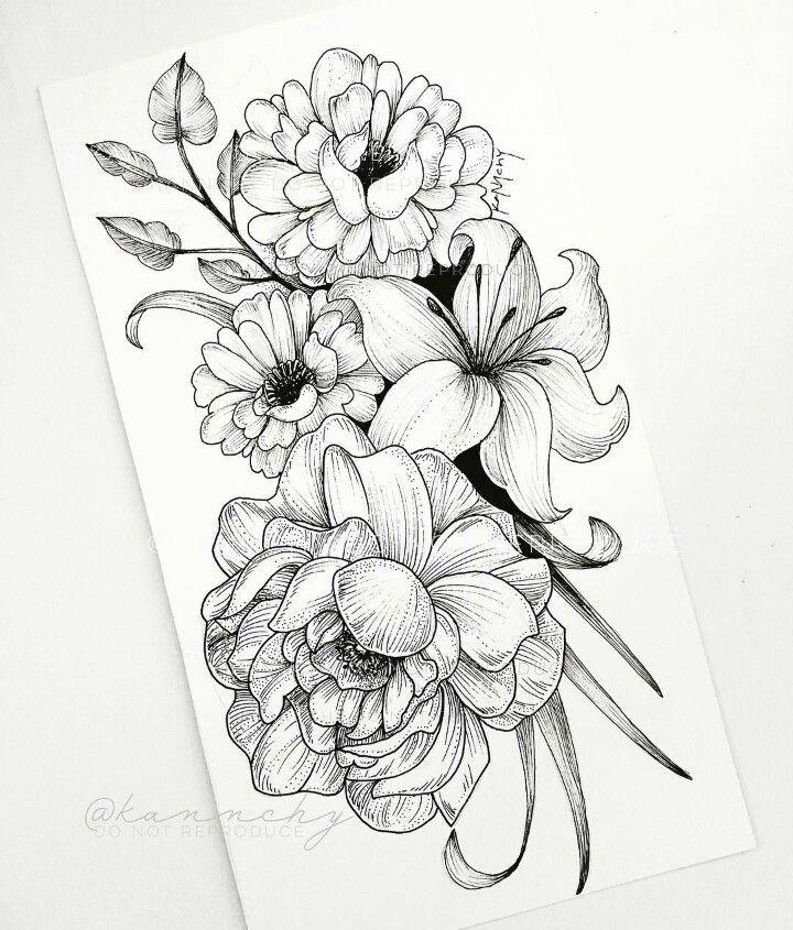 Flowers Desenhos Para Tatuagem Rosas Pretas Desenho Tatuagem