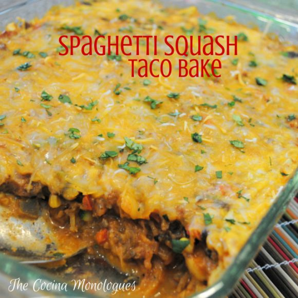Spaghetti Squash Taco Bake