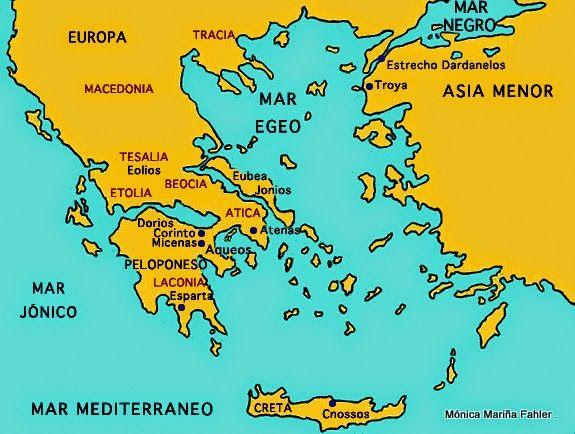 la Filosofía no nace en la propia Grecia Continental, (Europa) sino en esa parte de Asia que se asoma a Occidente. Un territorio de frontera, que facilita los contactos.