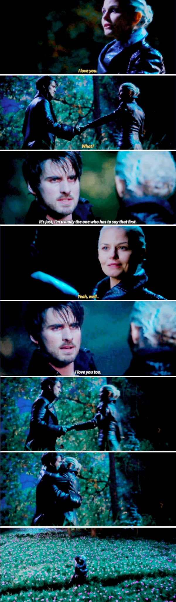 """I'm usually the one who has to say that first"" - Dark Hook and Dark Swan #OnceUponATime"
