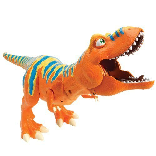 Dinosaur Train - InterAction Roar 'N React Boris Tyrannosaurus Ultimate T-Rex by Rc2. $179.89. Boris comes with the ability to recognize and interact with other dinosaurs in the line and have roaring contests with you. Recommended for ages 3+. Press his interactive button, and he shares tons of fun dino data. Based on the new Henson PBS show, the Dinosaur Train. Its truly an interactive dinosaur experience. From the Manufacturer                Boris Tyrannosaurus InterAction Fig...
