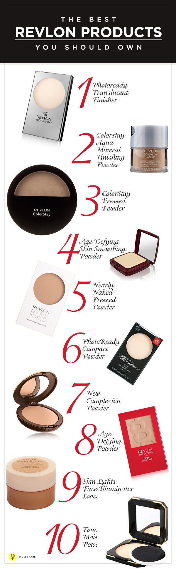 Here is a list of the best Revlon makeup products launched till date. ... Most of the shades have shimmer in it, barring two, Fire and Papaya. ...