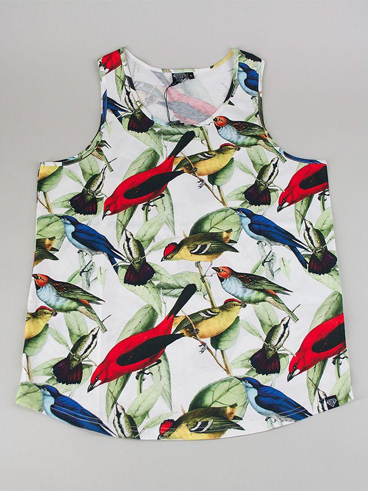 IUTER FULLPRINT TANK Canotta - birds € 40,00 MORE INFOS: http://www.moveshop.it/ecommerce/index.php/it/articolo/69394/12951/FULLPRINT%20TANK