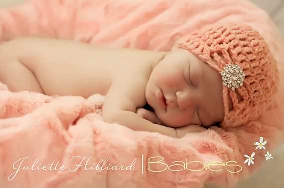 CROCHET PATTERN jewel flapper hat (0-3mo)  by CrochetMyLove on Etsy, $3.50