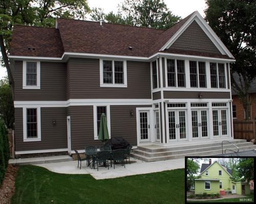 White trim home exterior pinterest - Brown house with white trim ...