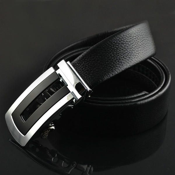 Fashion Mens Cowhide Leather Business Strap Belt Casual Automatic Buckle Belt at Banggood