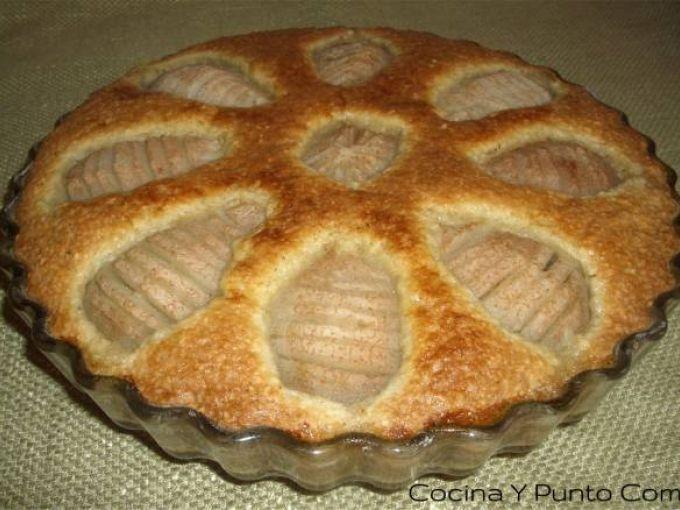 Tarta de peras con almendras, sencilla, Receta por Cocinaypuntocom - Petitchef