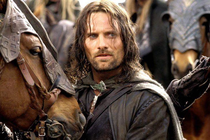 Pin for Later: 33 Photos That Prove Viggo Mortensen Is Everyone's Type The rugged warrior type Viggo Mortensen as Aragorn in the Lord of the Rings trilogy.