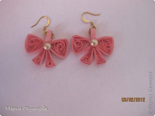 Quilling ~ Bow Earrings