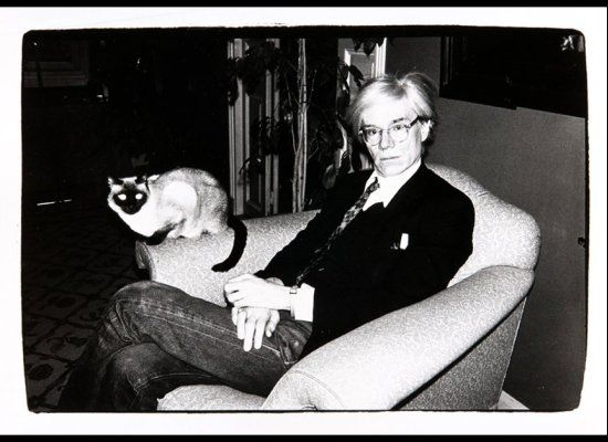 andy warhol with siamese cat b w pinterest