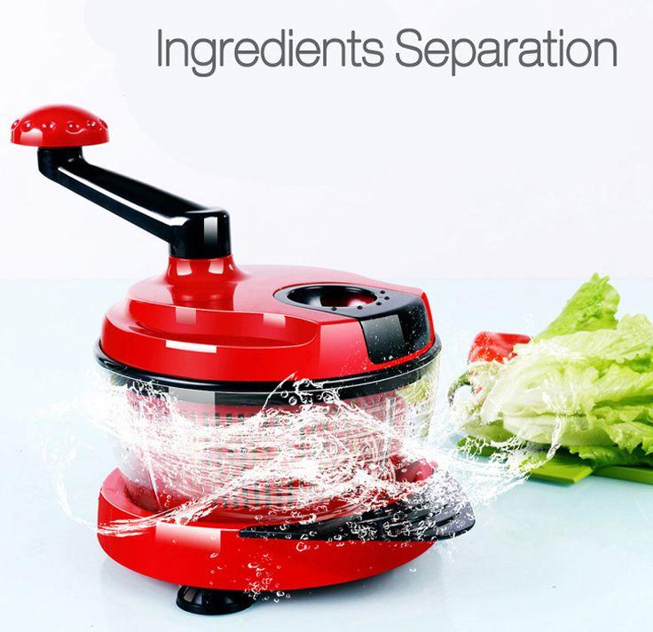 KCASA KC-MFP1 Multifunction Food Processor Kitchen Manual Food Chopper Mixer Salad Maker
