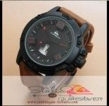 Quiksilver Leather Brown Leather List Red
