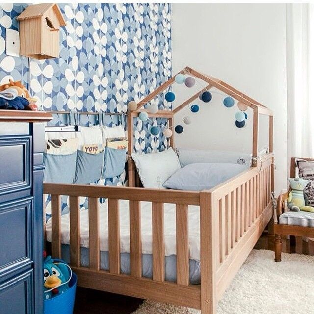 Boys Room Featuring A Timber Bed Frame