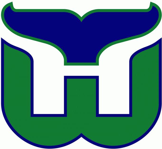 WHA Hartford Whalers Primary Logo (1980) - De los logos más fregones de la historia de la NHL. Lástima que ya no existan