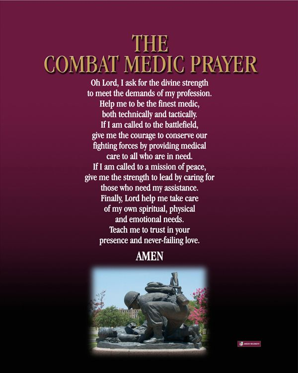 Image detail for -medical merit 02m3 the combat medic prayer text version of the combat ...