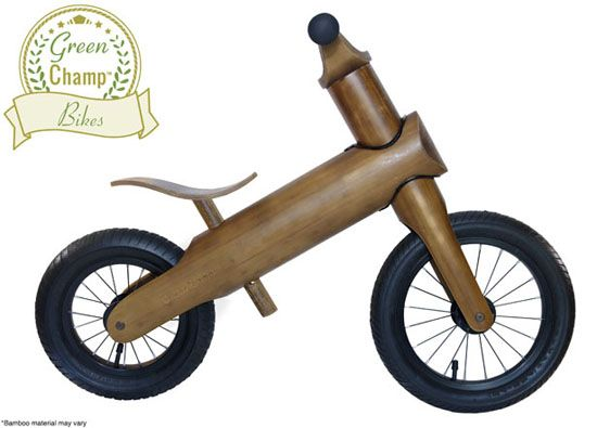 GreenChamp Bikes - Sustainable Bamboo Balance Bikes for Kids