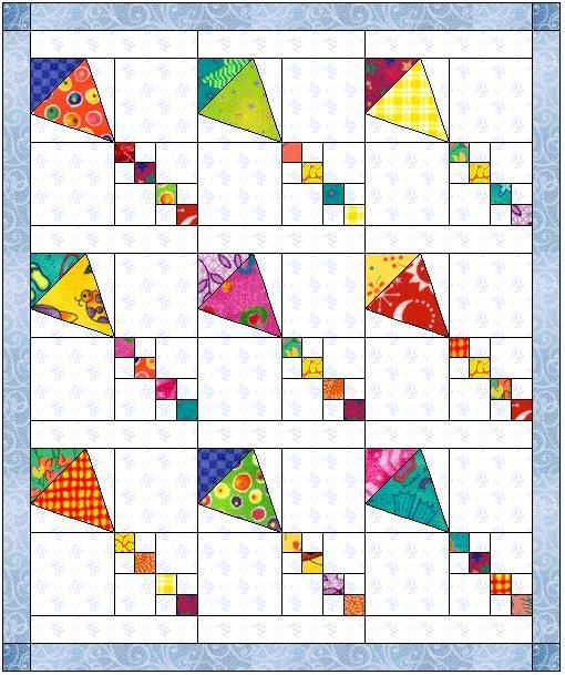 Block of the Month March 2006 Kites Tutorial/Pattern