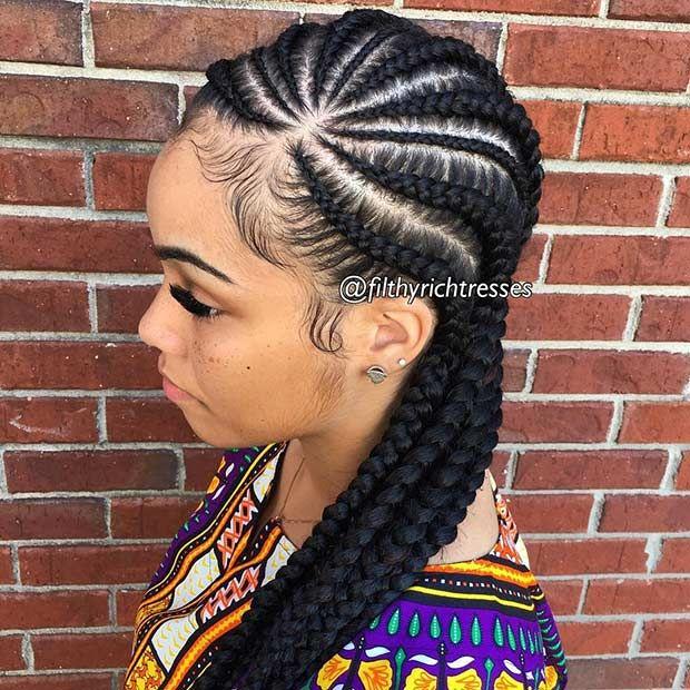 Phenomenal 1000 Ideas About Cornrow Braid Styles On Pinterest Cornrow Short Hairstyles For Black Women Fulllsitofus