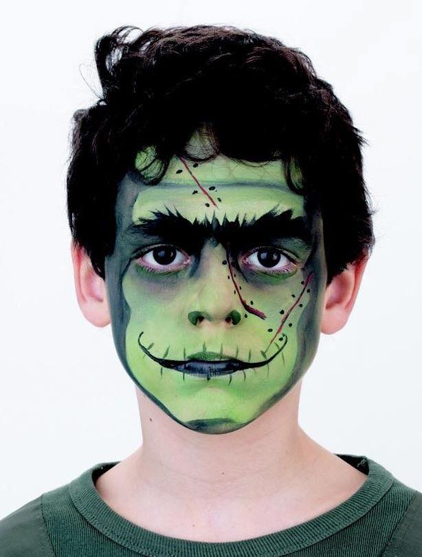 Frankenstein face paint - goodtoknow