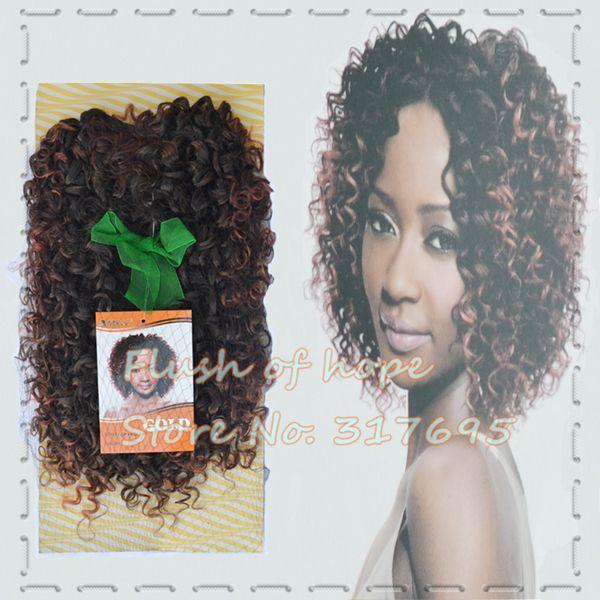Одной упаковке по 3 стилей благородный золотой Padiant синтетические наращивание волос ломбер короткие вьющиеся волосы переплетения утка 2 шт./упак. 6 упак. / много