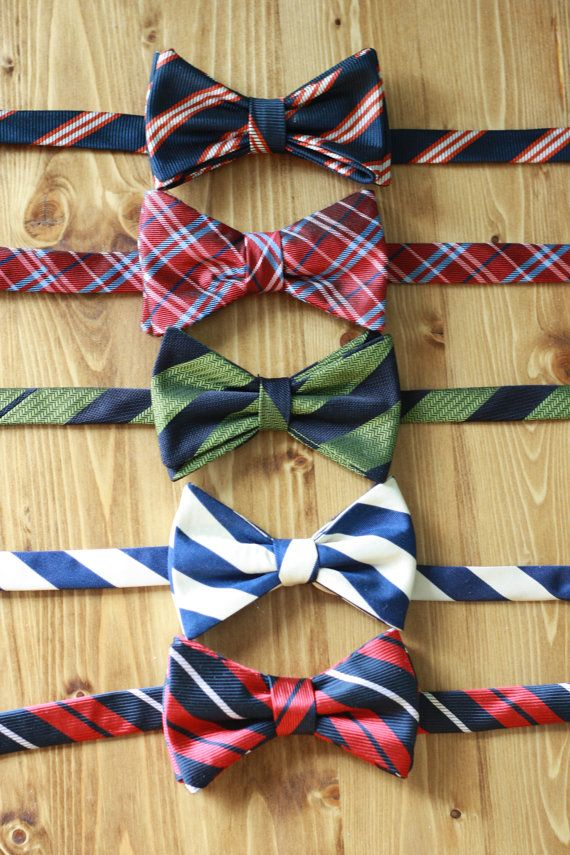 Bow tie PDF Sewing Pattern   Upcycled from Necktie by binskistudio