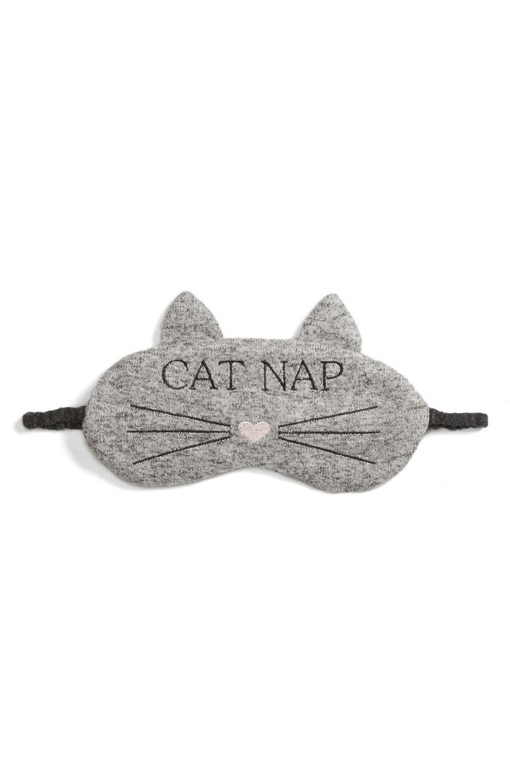 Cozy and cute is the theme of this padded eye mask that is perfect for taking cat naps.