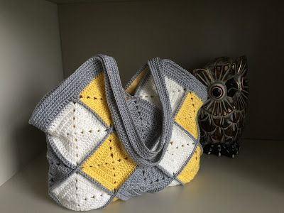 El Búho Crochet :#granny #square,#bag