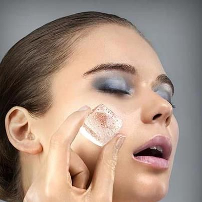 Rub an ice cube over your face before applying foundation. This closes your pores and prevents them from getting clogged with makeup.