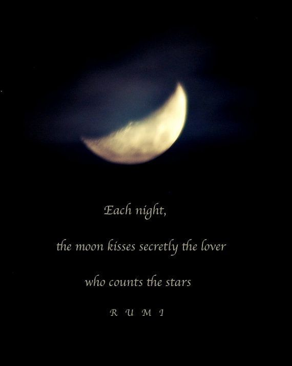 Rumi Each Night The Moon Kisses Secretly The Lover Who Counts The