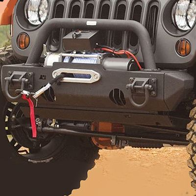 Rugged Ridge® XHD Modular Front Bumper with Winch Mount in Textured Black for 07-up Jeep® Wrangler & Wrangler Unlimited JK - KIT-B (NEW)