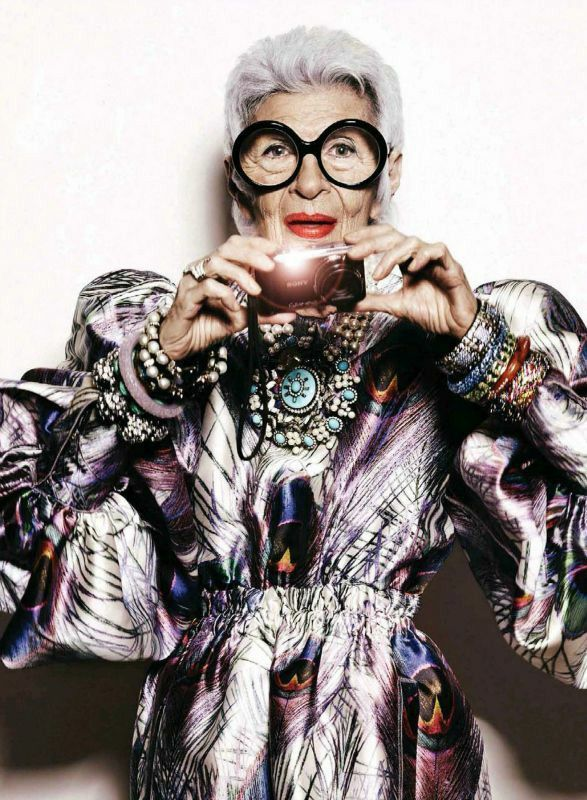 "iris apfel - ""If you don't learn constantly, you don't grow and you will wither. Too many people wither on the vine. Sure, it gets a little harder as you get older, but new experiences and new challenges keep it fresh."""