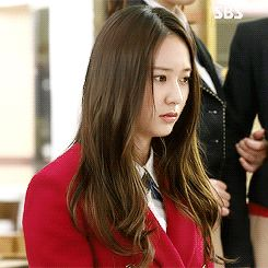 1k gifs f(x) Krystal krystal jung heirs the heirs shes so cute here Lee Bona