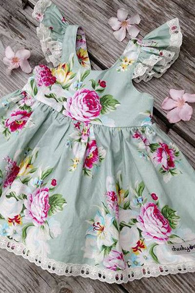 Mint Rose Dress